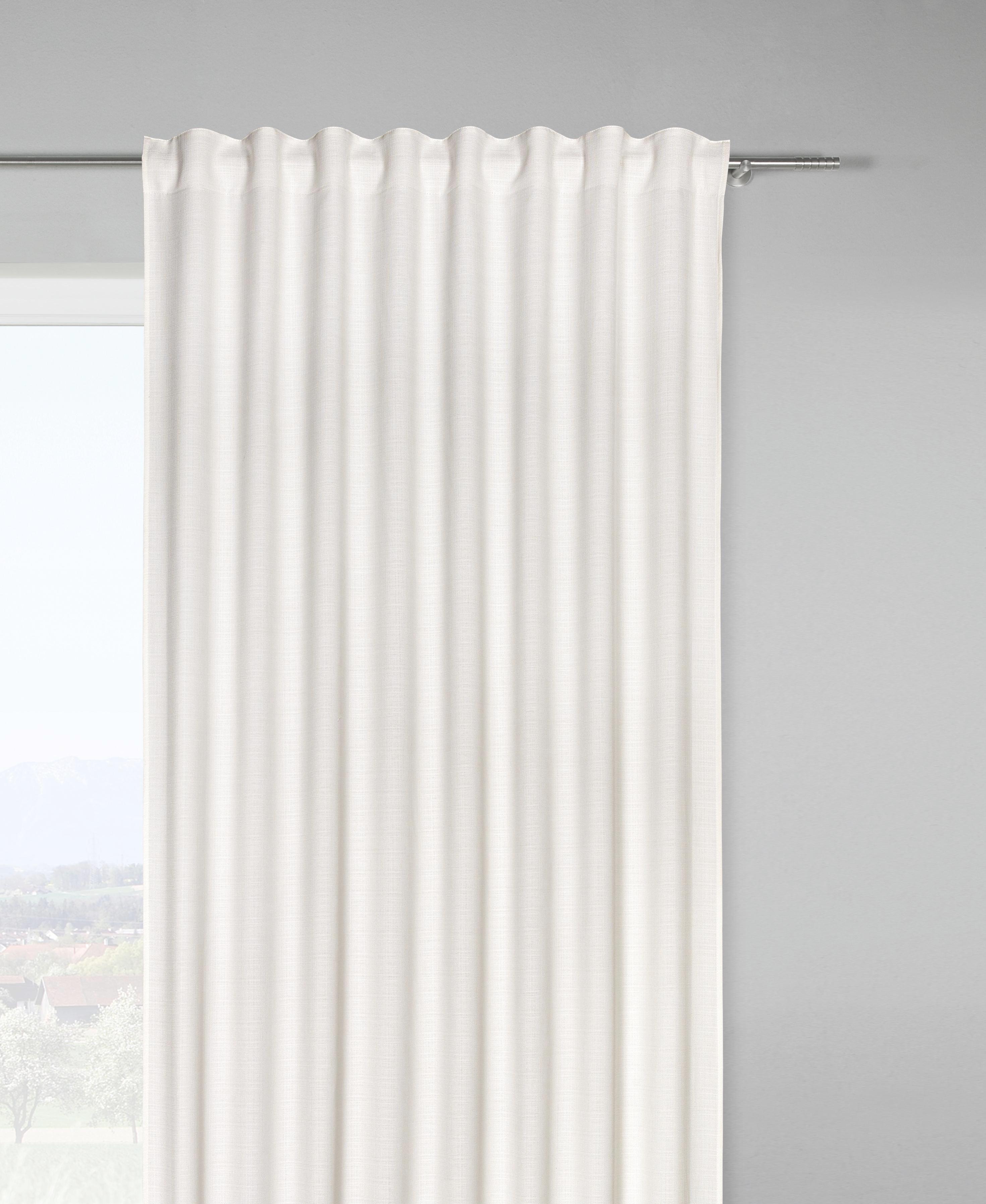 Fertigvorhang Leo in Weiß, ca. 140x255cm - Naturfarben, Textil (135/255cm) - PREMIUM LIVING