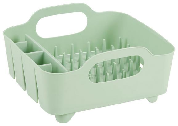Geschirrabtropfkorb Ute Mintgrün - Mintgrün, MODERN, Kunststoff (36,8/33,5/18cm) - Premium Living