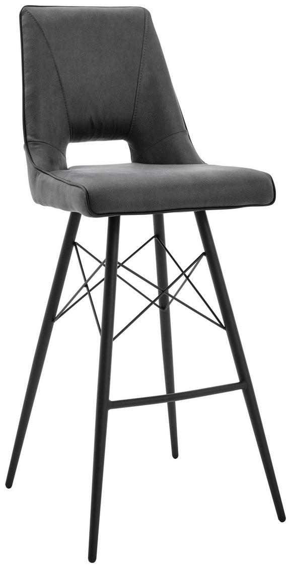 Barhocker Grau/Schwarz - Schwarz/Grau, MODERN, Holz/Textil (44,5/109,5/51.5cm) - Mömax modern living