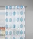 Schlaufenvorhang Ursi, ca. 135x245cm - Türkis/Weiß, KONVENTIONELL, Textil (135/245cm) - Mömax modern living