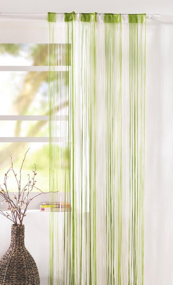 Zsinórfüggöny String - Világoszöld/Zöld, Textil (90/245cm) - Premium Living