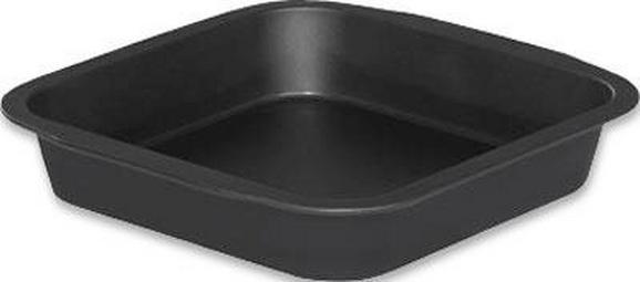 Backform Teflon - Schwarz, Metall (27/25,5/5,5cm)