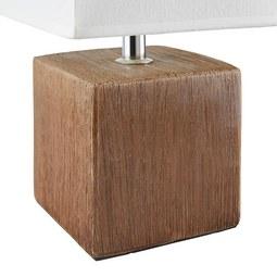 Tischleuchte Wanda, max. 40 Watt - Dunkelbraun/Beige, Keramik/Textil (15,5/28cm) - Mömax modern living