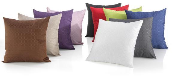 Párnahuzat Gitter - Piros/Olajkék, Textil (40/40cm) - Based