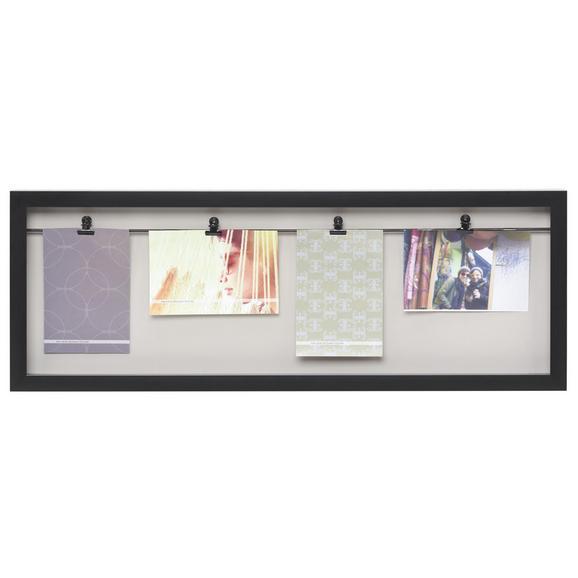 Držalo Za Fotografije Casius - črna, Moderno, umetna masa (65,3/24/3,5cm) - Mömax modern living
