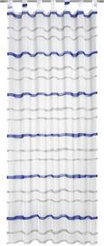 Schlaufenvorhang Matthias, ca. 135x255cm - Blau/Schwarz, Textil (135/255cm) - Mömax modern living