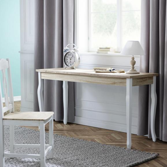 Konsole Antonio ca.150x50cm - Eichefarben/Weiß, Holz (150/75/50cm) - Premium Living