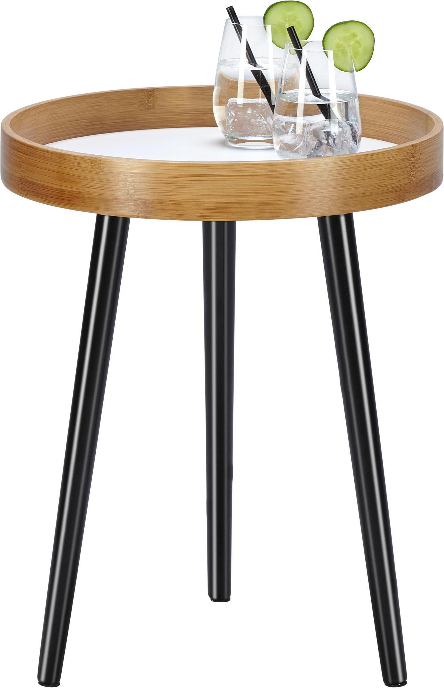 Beistelltisch Dana Ø40cm - Schwarz/Braun, MODERN, Holz (40/50cm) - MÖMAX modern living