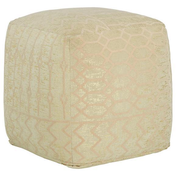 Pouf In Samt Beige - Beige, LIFESTYLE, Textil (45/45/45cm) - Modern Living