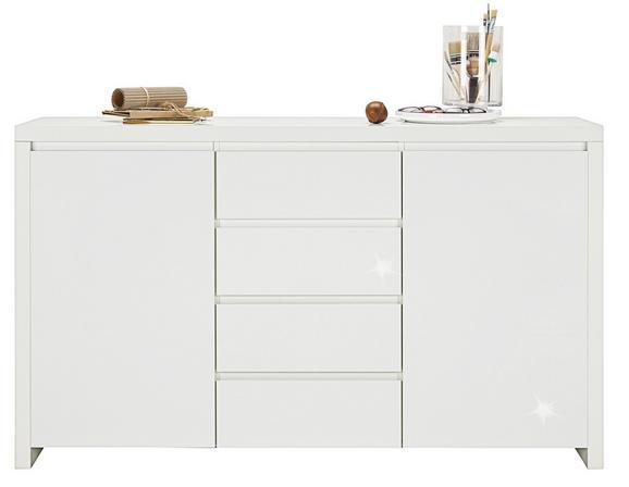 Sideboard Weiß Hochglanz - Weiß, MODERN, Holzwerkstoff (164/96,4/40cm) - Mömax modern living