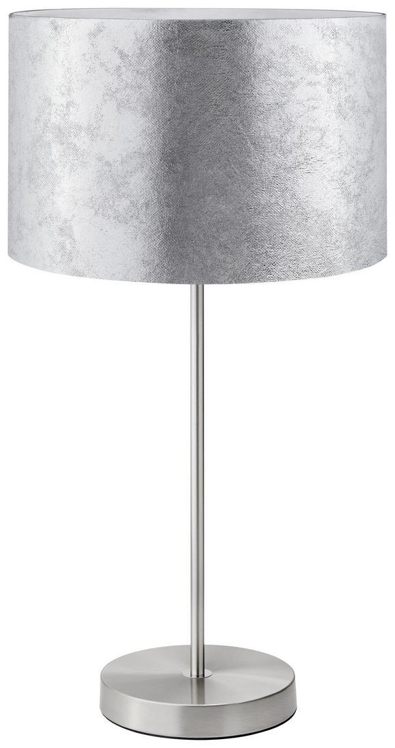 Tischleuchte Emelle - Nickelfarben, MODERN, Kunststoff/Metall (30/30/55cm) - Mömax modern living