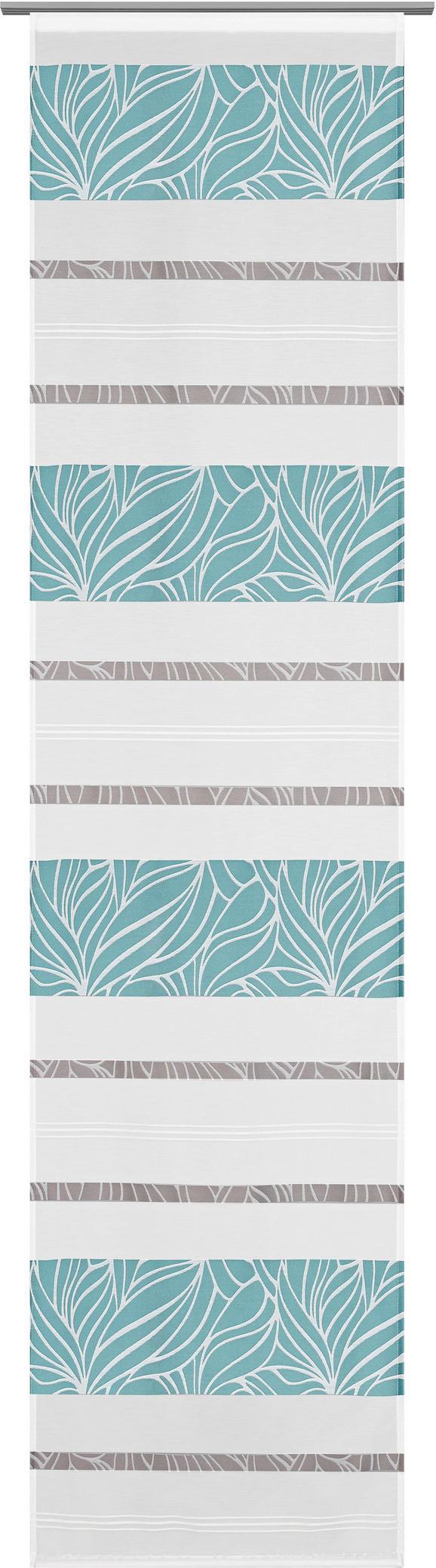 Panelna Zavesa Anita - modra, Konvencionalno, tekstil (60/245cm) - Modern Living
