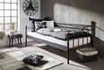 Tagesbett Schwarz 90x200cm - Schwarz, ROMANTIK / LANDHAUS, Metall (207/92/98cm) - Mömax modern living