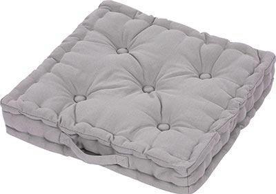 Boxkissen Ninix Grau ca. 40x40cm - Grau, Textil (40/40/10cm) - Mömax modern living