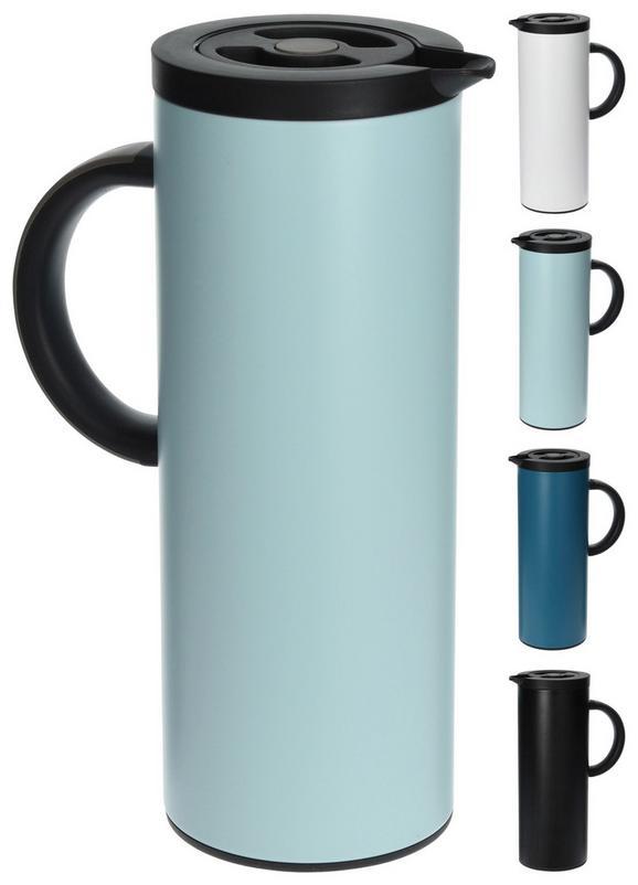 Isolierkanne Finja in verschiedenen Farben - Petrol/Schwarz, Glas/Kunststoff (11/30/11cm)