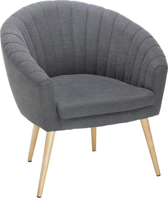Sessel Dunkelgrau - Dunkelgrau/Naturfarben, MODERN, Textil (75/77/45/66cm) - Mömax modern living