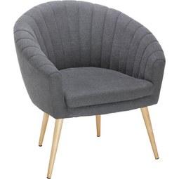 Sessel in Dunkelgrau - Dunkelgrau/Naturfarben, MODERN, Textil (75/77/45/66cm) - Mömax modern living