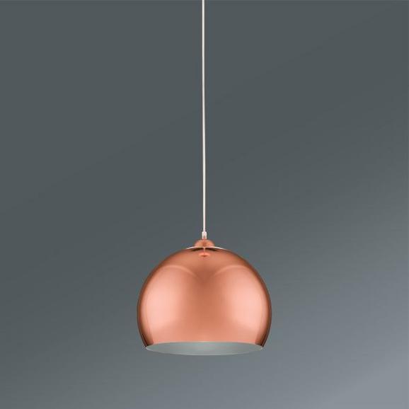 Függőlámpa Konrad - réz színek, modern, műanyag/fém (30/30/150cm) - MÖMAX modern living