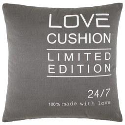 Zierkissen Love Limited ca.45x45cm - Grau, KONVENTIONELL, Textil (45/45cm) - Mömax modern living