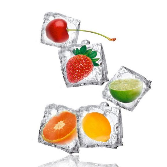 Glasbild Fruity Ice, ca. 30x30x2cm - Multicolor, MODERN, Glas (30/30/2cm) - Mömax modern living