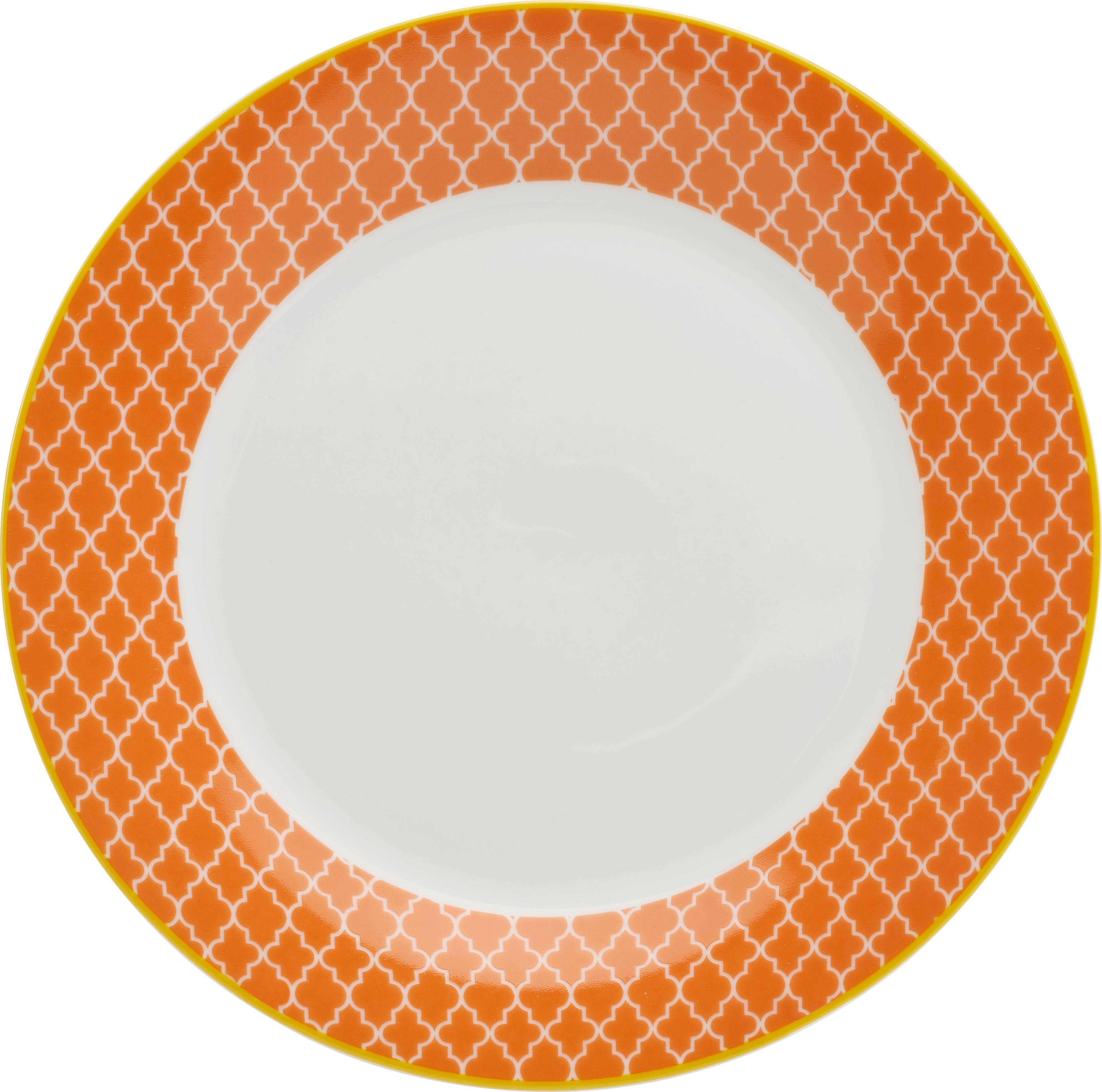 Dessertteller Sahara in Orange aus Porzellan - Gelb/Orange, LIFESTYLE, Keramik (20,32cm) - MÖMAX modern living