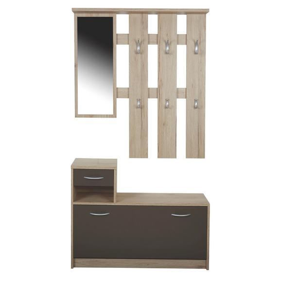Predsoba Iza - hrast/rjava, Konvencionalno, steklo/leseni material (100/190/26cm) - Mömax modern living