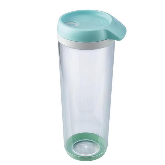 Schüttdose Bruni in Mintgrün ca. 1l - Transparent/Mintgrün, MODERN, Kunststoff (1l)