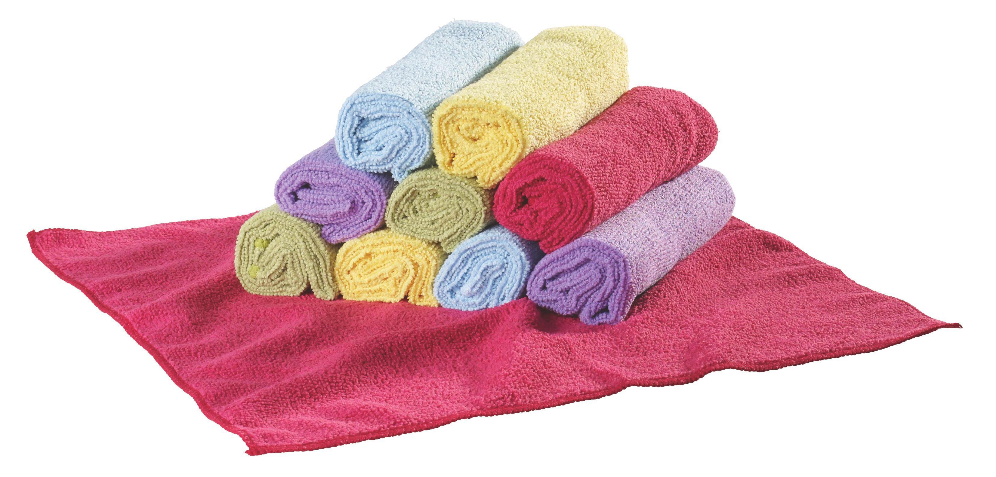 Mikrofasertuch Ricky in verschiedenen Farben - Pink/Gelb, Textil (35/35cm) - MÖMAX modern living