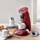 Kaffeepadmaschine Senseo - Rot, MODERN, Kunststoff/Metall - PHILIPS