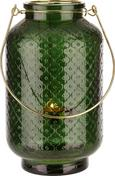 Laterna Sarah - siva/temno zelena, Moderno, kovina/steklo (14,1/24cm) - Mömax modern living