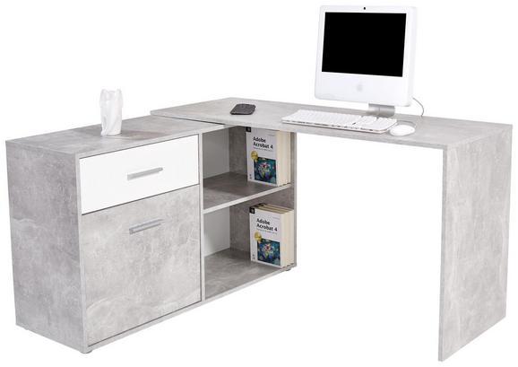 Pisalna miza PRAG 138 - siva/bela, Moderno, leseni material (138/74/120cm) - MÖMAX modern living