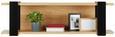 Wandboard Schwarz/Eiche - Eichefarben/Schwarz, LIFESTYLE, Holzwerkstoff (126/37,5/32cm) - Zandiara