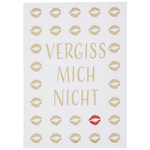 Postkarte Vergiss mich nicht! - Rot/Goldfarben, MODERN, Papier (10,5/14,8cm)