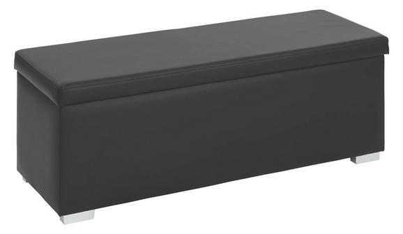 Klop S Skrinjo Universal Ii - črna/srebrna, umetna masa/leseni material (112/40/39cm)