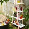 Svetlobna Girlanda Birthday - roza/prozorna, Romantika, umetna masa (195cm)