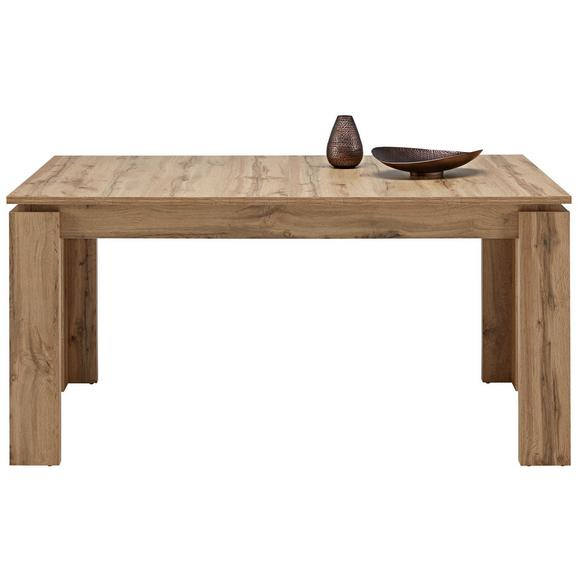 Jedilna Miza Bari Ca. 160-200x90 Cm - hrast, Konvencionalno, leseni material (160-200/77/90cm) - Modern Living