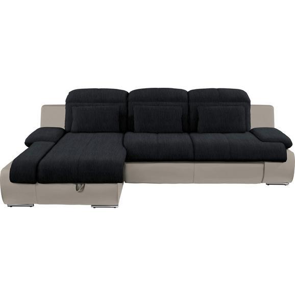 Sjedeća Garnitura Multi - boje pijeska/boje kroma, Modern, tekstil/metal (184/260cm) - Modern Living