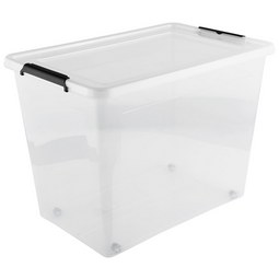 Box mit Deckel Action aus Kunststoff ca. 80l - Transparent, Kunststoff (58/39/42cm)