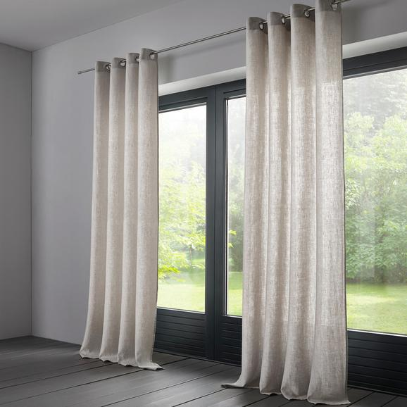 Vorhang Jana aus Leinen ca. 140x245cm - Hellgrau, KONVENTIONELL, Textil (140/245cm) - Mömax modern living