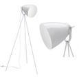 Stehleuchte Tomasso - Weiß, MODERN, Metall (63/63/150cm) - Bessagi Home