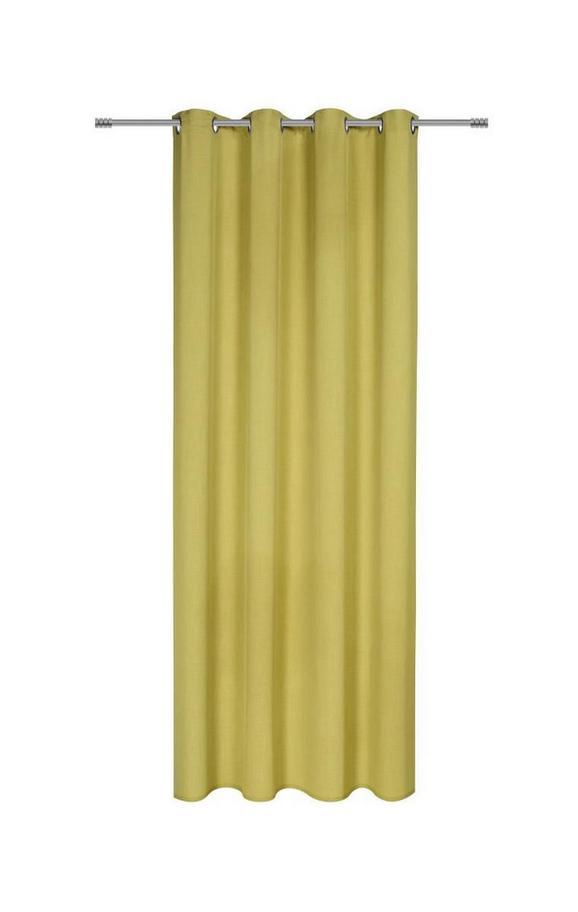 Ösenvorhang Ulli in Grün, ca. 140x245cm - Grün, Textil (140/245cm) - Mömax modern living