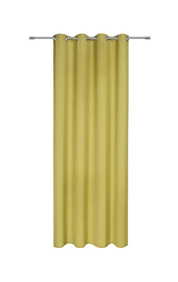 Zavesa Z Obročki Ulli -ext- - zelena, tekstil (140/245cm) - MÖMAX modern living