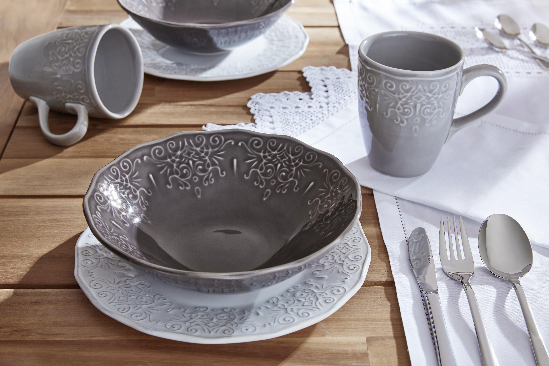 Frühstücksset persian - Hellgrau/Braun, Keramik - MÖMAX modern living