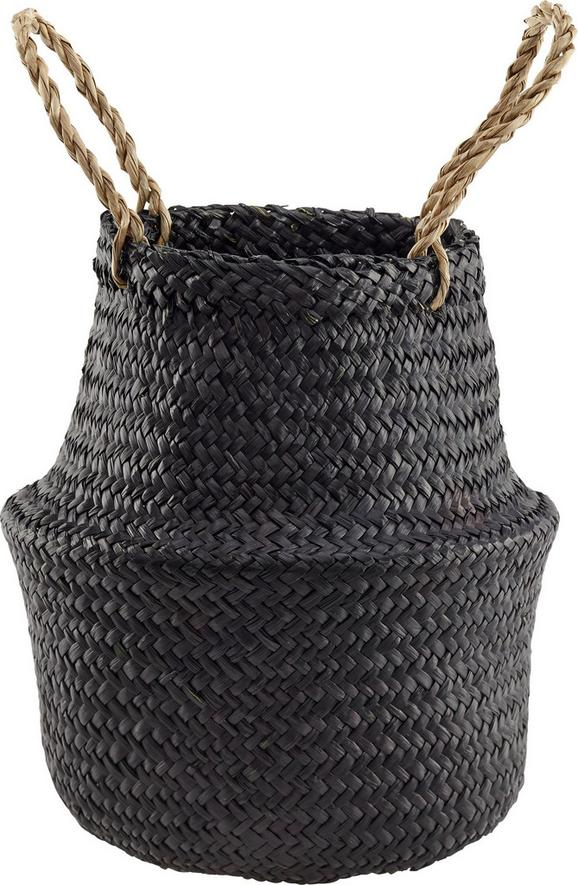 Cvetlični Lonček Miriam - črna, umetna masa/ostali naravni materiali (20/28cm) - Mömax modern living