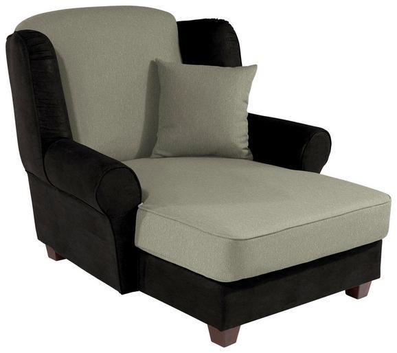 Fotelja Living - tamno smeđa/bež, MODERN, drvo/tekstil (120/98/138cm)