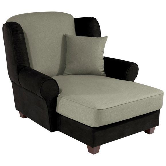 Fotelja Living - tamno smeđa/bež, Romantik / Landhaus, drvo/tekstil (120/98/138cm)