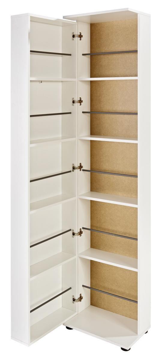 Omara Za Čevlje Penny 8 Bela - bukev/wenge, leseni material (47/190/29cm)