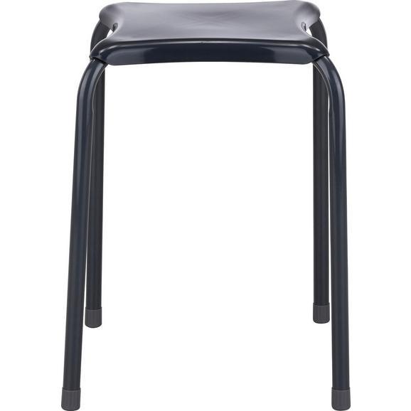Stapelhocker Grau/metall - Grau, Kunststoff/Metall (34/46/34cm) - Mömax modern living