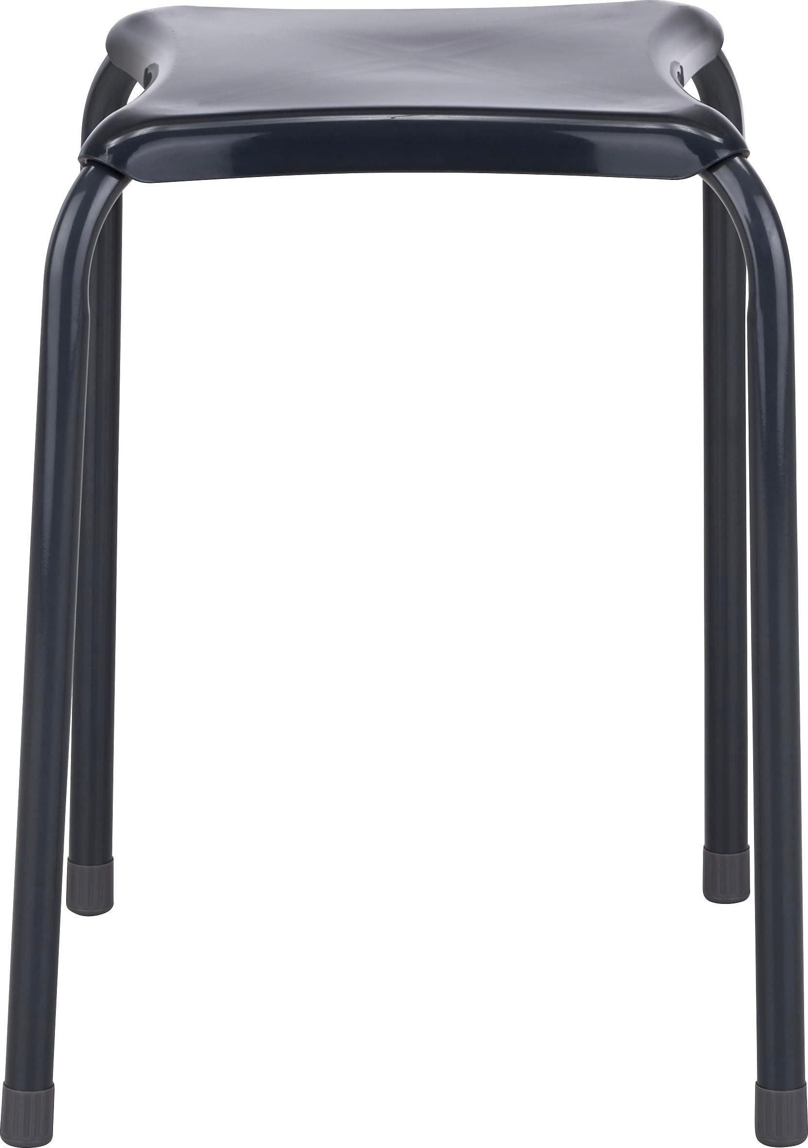 Stapelhocker in Grau aus Metall - Grau, Kunststoff/Metall (34/46/34cm) - MÖMAX modern living
