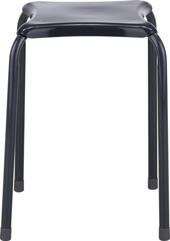Zložljiv Stolček Isabelle - siva, kovina/umetna masa (34/46/34cm) - Mömax modern living